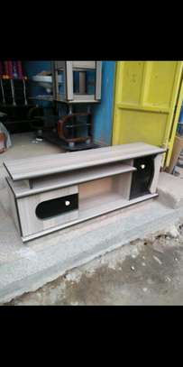 Wood top tv stand image 1