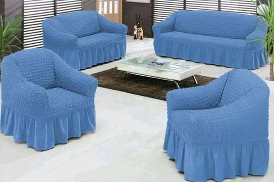 Sofa Covers 5 sitter blue image 1