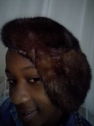 Women Mink Fur Hat Caps image 4