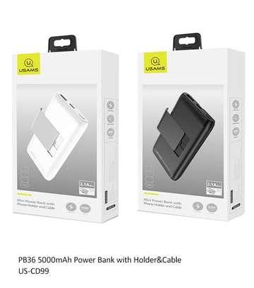 Usams US-CD99 PB36 5000mAh Power Bank with Holder&Cable image 2
