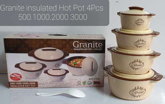 4pcs Granite Insulated Hot Pots image 2