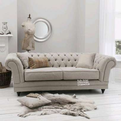 Modern three seater sofas/beige sofas image 1