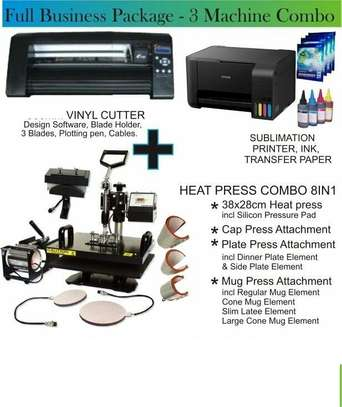 Start Up Printing Business Packages heatpress plotter  printing