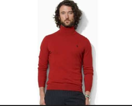 Red& Royalnavyblue turtle neck image 2