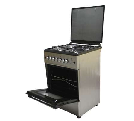 Mika Standing Cooker, 58cm X 58cm, 3 + 1, Electric Oven, Silver image 2