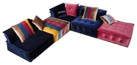Multicolored fabrics sofas image 4
