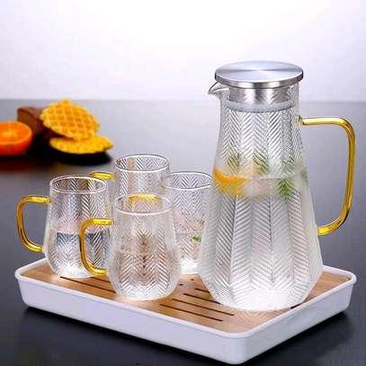 High borosilicate glass jug set image 4