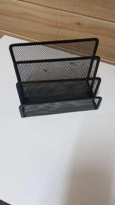 Metallic mesh table organizer image 2