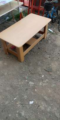 Modern wooden side coffee table image 1