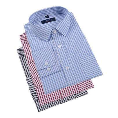 3 Piece Plaid Dress Shirts