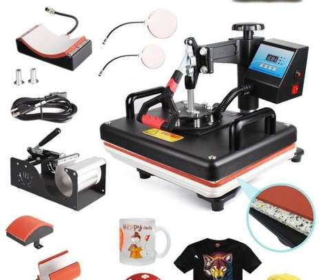 Combo Heat Press Machine Coffee Magic Mug Cup Cap Clothes T Shirt Printing Machine 8 1 Sublimation image 1