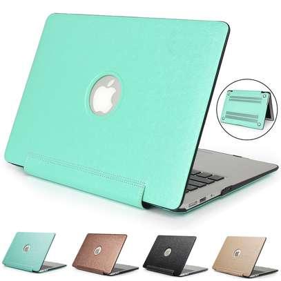 Macbook case cover Siamese PU silk grain 11.6 12 13.3 inch Air Retina Pro image 1