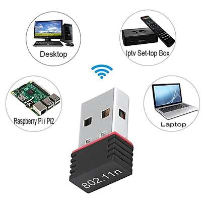 Generic 150Mbps USB WiFi Adapter, Wireless Network Card Adapter Wifi Dongle for Desktop Laptop PC Windows 10 8 7 MAC OS