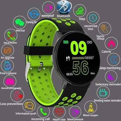 Fitness Tracker  with Heart Rate Blood Pressure   Step Calorie Counter Pedometer Waterproof  -Green image 1