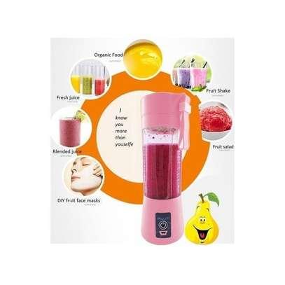 USB Rechargeable Portable Blender - Hand Held Fruit Juicer Smoothie Maker Bottle-Pink image 3