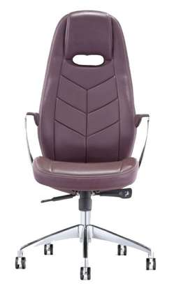 High Back Leather Office Chair image 1