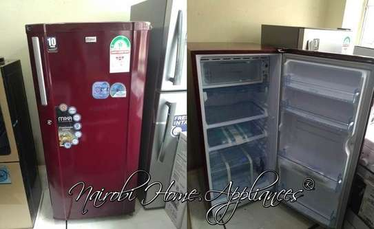 Mika Refrigerator, 190L, Direct Cool, Single Door, Burgundy Red image 1