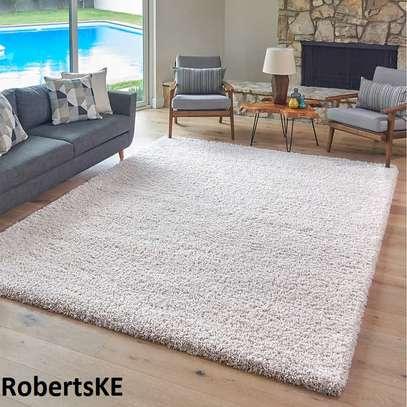 cream white nonskid elegant shaggy turkish carpet 6by9 image 1