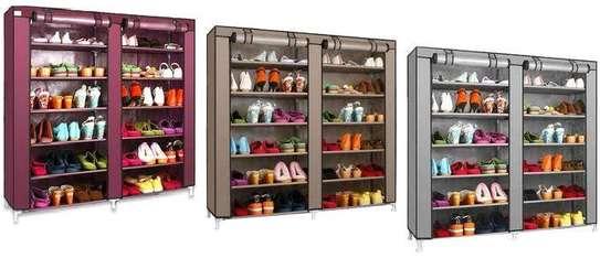 Double column shoe rack (purple) image 1