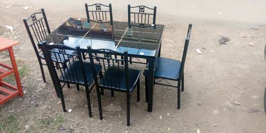 Necessity six seaters dining table with 6 chairs image 1