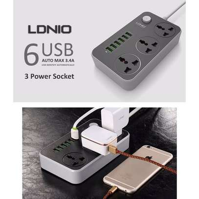 LDNIO SC3604 3.4A Power Socket3 AC + 6 USB Charger Adapter 2500W 10A image 2