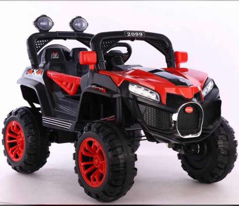 Kids 4×4 police mini Jeep car image 1