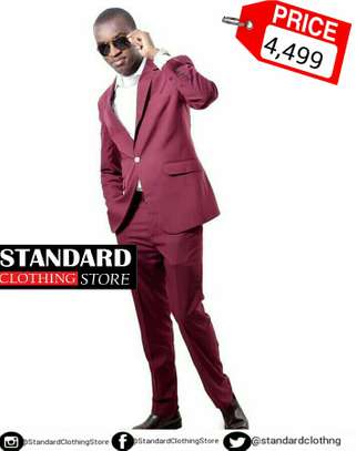 Maroon Fitting Suit image 1