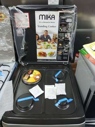 Mika standing cooker 3gas 1electric 50*55 color silver image 1