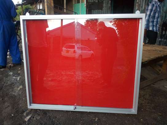 GLASS SLIDING NOTICE BOARD 4X2ft image 2