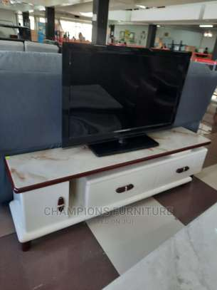 Glass Toped Tv Stand image 1