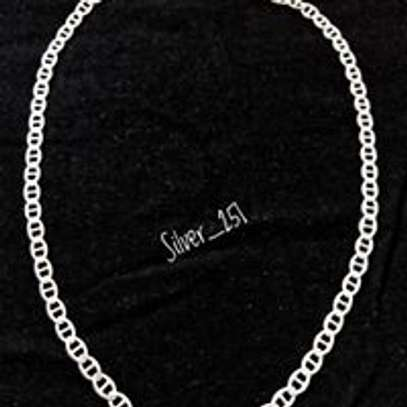 Simple Link Pure Silver Chain