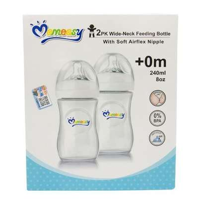2Pack Wide Neck Feeding Bottle with Soft Airflex Nipple