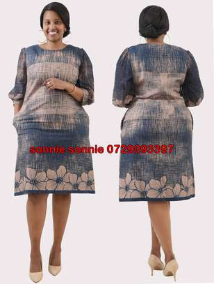 TURKEY NAVY BLUE FLORAL SHIFT DRESS image 1