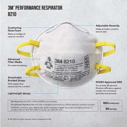 N95 8210 Origianal Medical Reticulate Mask image 3