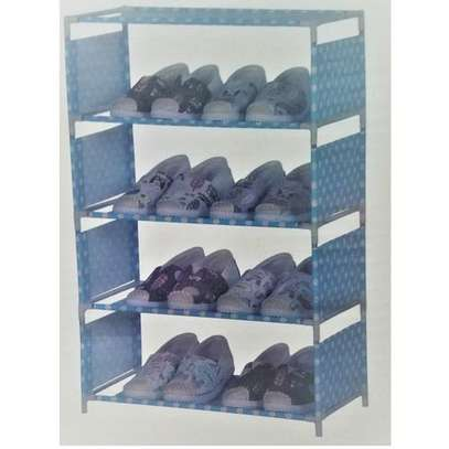 5 Tiers jungle green Shoe Rack With Dustproof Cover Closet Shoe Storage Cabinet Organizer - Blue
