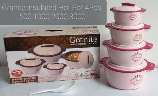 4pcs Granite Insulated Hot Pots image 1