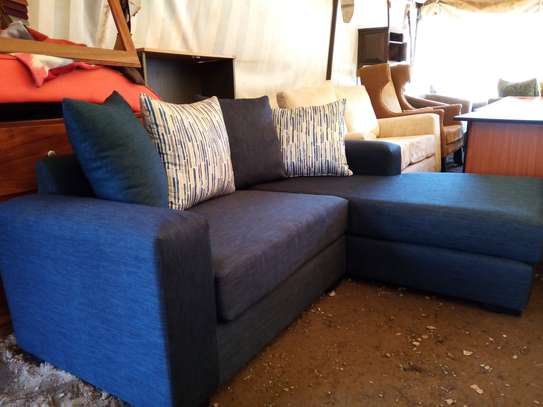 NEW, dark blue 2 seater L couch