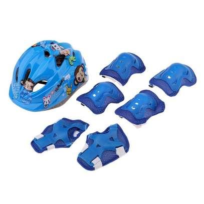 Generic Children Cycling,Skating,Skateboard,Bike - Helmet+Elbow,Knee &Wrist Pads Protective Gear image 1