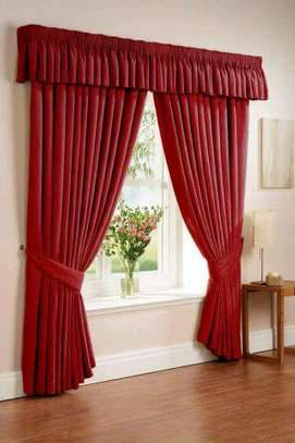 maroon curtains with a free Sheer