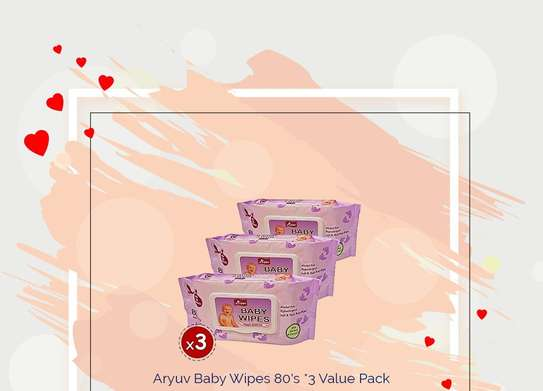 Aryuv Baby Wipes 80's*3 Value Pack