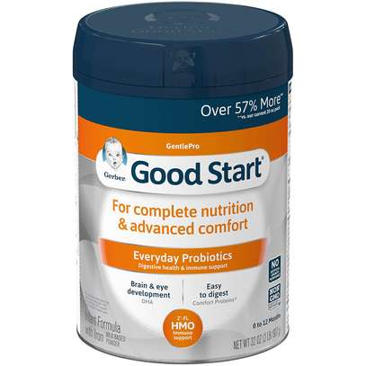 Gerber Good Start Gentle (HMO) Non-GMO Powder Infant Formula, Stage 1, 32 Ounce (Pack of 1) image 1