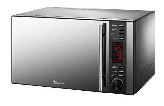25 LITERS MICROWAVE+GRILL BLACK- RM/326 image 1