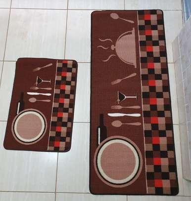 2pc Stylish Kitchen Mats image 1