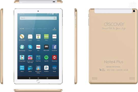 Discover Note 7 Plus, Quad Core, Dual Sim, Dual Camera,, Android 8.1 64GB, 4GB DDR3, 4G LTE, Wi-Fi (gold) image 2