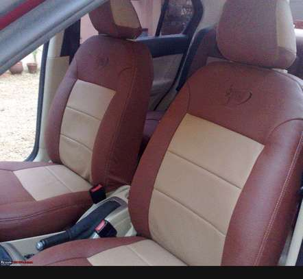 Car seat covers leather upholstery image 1