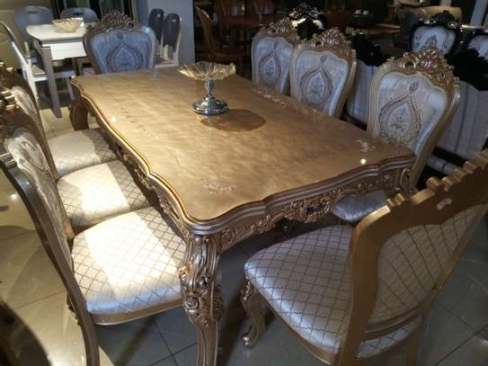 Glass 8Seater Dining table image 4