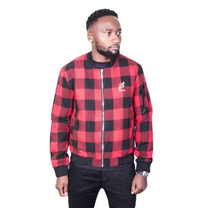 Black & Red Checked Jacket image 1
