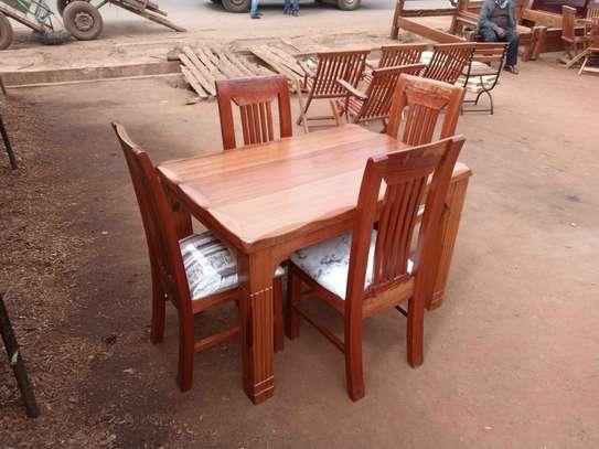 4 seater solid Mahogany dining set image 1