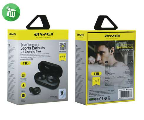 Awei T16 TWS Wireless Charging In-ear Stereo Bluetooth 5.0 Earphones image 9