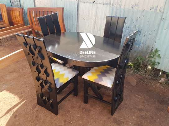 Black 4 Seater Dining Table sets image 11